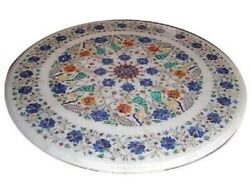 36 Marble Dining Table Top Inlay Rare Semi Round Center Coffee Table Ar1155
