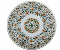 36 Marble Dining Table Top Inlay Rare Semi Round Center Coffee Table Ar1156