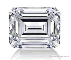 Super Gia Certified Natural Diamond 1.02ct. F I1 Emerald Cut For Ring And Jewelry