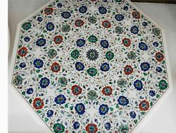 36 Marble Dining Table Top Inlay Rare Semi Antique Center Coffee Table Ar1198