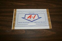 Nos Ford A-1 1964-68 Used Car Window Sticker, Ford Mustang, Fairlane, F100 Truck