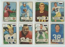 1954 Bowman Complete Set 128 Football Cards Rookies And Hofs Rarevintage