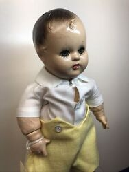 """11"""" Antique Madame Alexander Compo """"butch"""" Baby Doll Redressed Boy Doll Cc"""