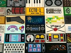 **Pick Your Tile** LEGO Tiles with Prints Stickers Phone Dynamite amp; More