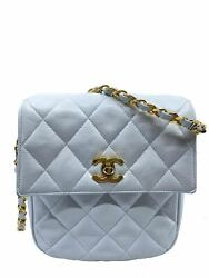 Chanel Vintage Quilted Lambskin Classic Flap Bag $1395.00