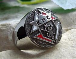 3rd Degree Knights Of Columbus Ring Bague Signet Silver Pin Patch [d67 Steel]