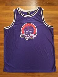 Authentic Vince Carter Charity All-star Game Purple Blank Road Jersey 5xl 5x