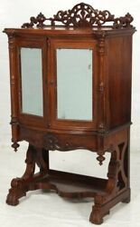 Music Stand, Parlor Cabinet, Rococo Victorian, C1860, Rswd, T Maple, Nyc, 42t