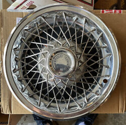 Vintage Oem Chevrolet Gm Wire Hubcaps Set Of 4 Rare Chrome Stainless Nice