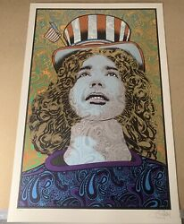 Jerry Garcia Poster Grateful Dead Chuck Sperry Signed And Numbered