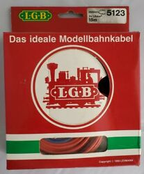 Lgb Lehman-gross-bahn Cable 5123 Red/blue 15m, Ideal Cable For Model Trains New