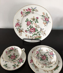 72 Pieces Wedgwood Charnwood Wd3984 Bone China Dinnerware Place Setting For 12
