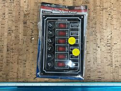 New Oem 0700p15 Boaters Sports 6 Gang Rocker Switch Fuse Panel 12v 51401