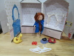 Madeline Doll Case With Doll, Bathing Suit Hangars Sandals Dress Ducky Nun