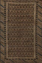 Pre-1900 Paisley Tribal Hand-knotted Area Rug Wool Oriental Kitchen Capet 3x5