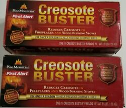 2 Pack Pine Mountain Creosote Buster Chimney Cleaning Fire Logs 3.5lbs