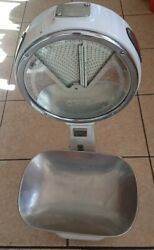 Vintage Antique Avery A 954 71 Weighing Scale Porcelain Chrome Iron 30 Tall