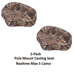 2-pack Boat Casting Seat Post Mount Pro Sturdy Vinyl Camo Realtree Max 5 Fishing