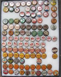 108 Assorted Soda Tax Bottle Caps Crowns Pa, Sc, Wv Dr. Pepper, Mountain Dew