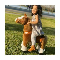 Ponycycle Official Classic U Series Ride On Horse Toy Plush Walking Animal Br...