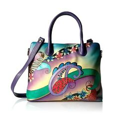 Anna By Anuschka Women's Genuine Leather Large Expandable Tote | Hand Painted...