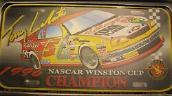 Nascar Lot License Plate Collection In Storage Case With 9 Metal Plates