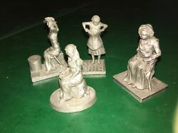 Franklin Mint Saterday Evening Post Pewter Miniature Figures Norman Rockwell