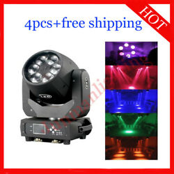640w Led Beam Wash Zoom 3 In 1 Moving Head Disco Stage Light 4pcs Free Shipping
