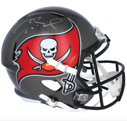 Tom Brady Tampa Bay Buccaneers Signed Riddell Speed Authentic Helmet