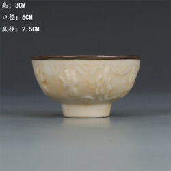Chinese Ancient Song Ding Kiln Milky White Glaze Porcelain Small Bowl