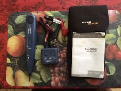 Fluke Networks Pro3000 Toner And Probe Kit And Users Guide In Working Condition