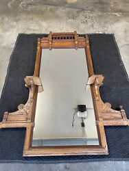 Antique Victorian Dressing Mirror - Antique Furniture - Genuine Marble