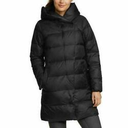 New Eddie Bauer Womenand039s 650 Fill Down Wrap Parka S M L Or Xl Black Or Light Gray
