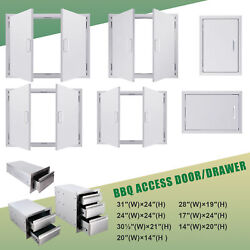 Kitchen Cabinet Stainless Steel Access Door Drawer For Outdoor Grills Ovens Bbq
