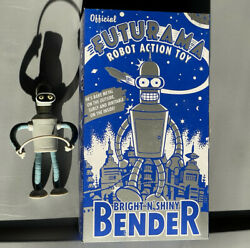 Futurama Bender Bright N Shiny Tin Wind Up Robot 2001 Vintage With Small Bendy
