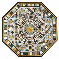 36 Marble Dining Table Top Inlay Rare Semi Antique Center Coffee Table Ar1248