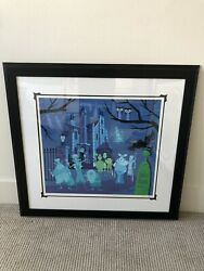 Disney Shag Haunted Mansion We're Dying To Meet You Le Framed Serigraph 53/200