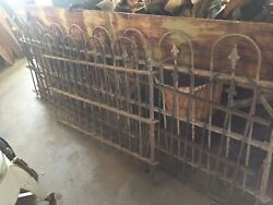 Antique Very Old Fencing 24 Foot With Two Fence Post