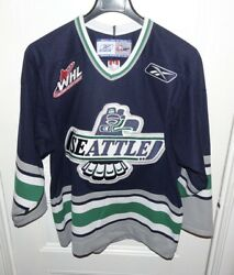 Seattle Thunderbirds Authentic Whl Official Jersey Of The Chl Men's Medium