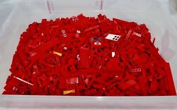 Lego Lot Of Over 5 Lbs Pounds Of Red Bricks Plates Slopes Etc.