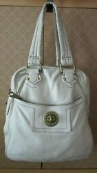 Women#x27;s MARC by Marc Jacobs Gray Leather Large Tote Handbag $19.00
