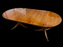 Stunning Designer Art Deco Style Burr Yew Tree Dining Table Pro French Polished