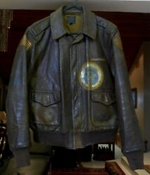 Wwii Original Most Complete Us Army Air Corps Named A-2 Flight Leather Jacket