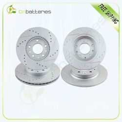 Front 283 Mm And Rear 280 Mm Quality Drilled And Slotted Brake Rotors For Mazda 6