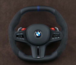Bmw M8 F91 F93 X5m F95 X6m F96 Custom Steering Wheel Heated Flat Bottom And Top
