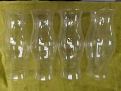 4 Large Hurricane Glass Lamp Globes For Wind Outdoor Lamps, Candles And Lights.