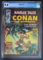 Savage Tales 3 Conan Red Nails Barry Smith Red Sonja Femizons Steranko Cgc 9.8