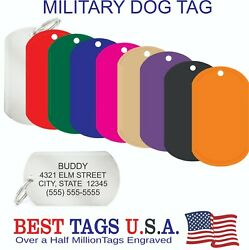 100 Custom Engraved Military Dog Tags Keychain Id Etc Made In Usa 99.95 Shipped