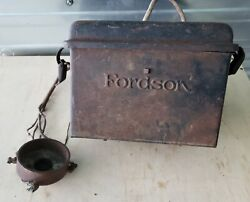Antique Henry Ford Fordson Tractor Ignition Coil Metal Buzz Box W/ Lid 4 Coils