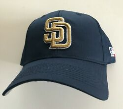 Set Of 12 New San Diego Padres Mlb Caps, Navy With Old Gold Sd Logo